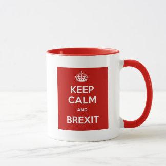 Behalten Sie Ruhe und Brexit Tasse