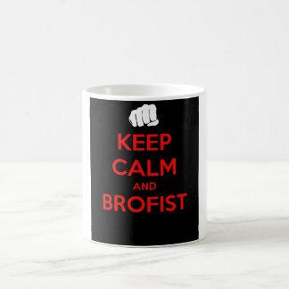 Behalten Sie Ruhe und brofist! Kaffeetasse