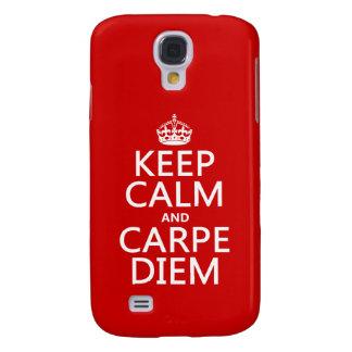 Behalten Sie Ruhe und Carpe Diem Galaxy S4 Hülle