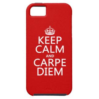 Behalten Sie Ruhe und Carpe Diem iPhone 5 Schutzhülle