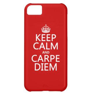 Behalten Sie Ruhe und Carpe Diem iPhone 5C Hülle