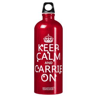 Behalten Sie Ruhe und Carrie an - Blut - alle Aluminiumwasserflasche