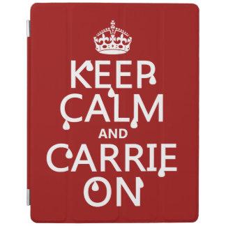 Behalten Sie Ruhe und Carrie an - Blut - alle iPad Hülle