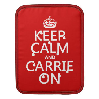 Behalten Sie Ruhe und Carrie an - Blut - alle Sleeve Für iPads