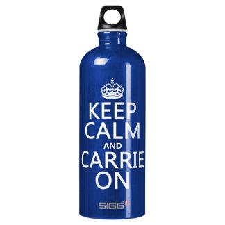 Behalten Sie Ruhe und Carrie auf (irgendeine Aluminiumwasserflasche