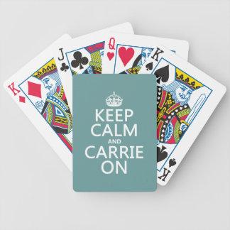 Behalten Sie Ruhe und Carrie auf (irgendeine Bicycle Spielkarten