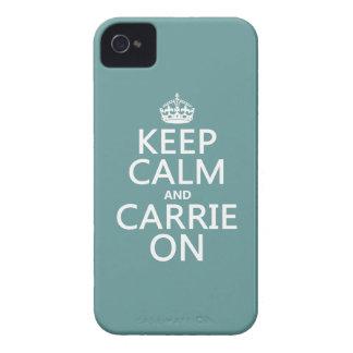 Behalten Sie Ruhe und Carrie auf (irgendeine iPhone 4 Cover
