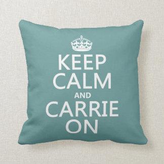 Behalten Sie Ruhe und Carrie auf (irgendeine Kissen
