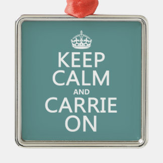 Behalten Sie Ruhe und Carrie auf (irgendeine Silbernes Ornament