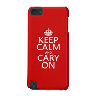 Behalten Sie Ruhe und Cary auf (irgendeine Farbe) iPod Touch 5G Hülle