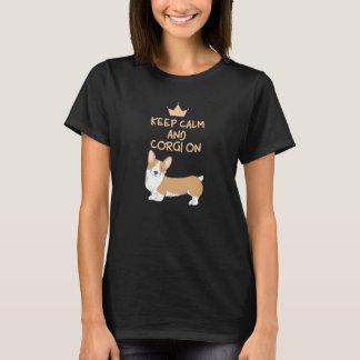 Behalten Sie Ruhe und Corgi-an - niedlichen T-Shirt