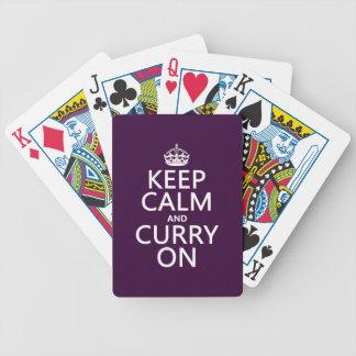 Behalten Sie Ruhe und Curry an Bicycle Spielkarten