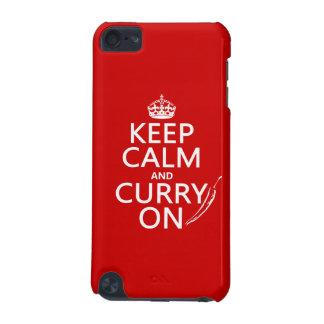 Behalten Sie Ruhe und Curry auf (kundengerecht) iPod Touch 5G Hülle
