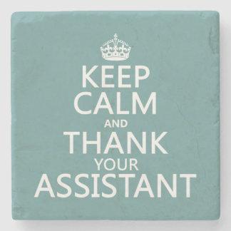 Behalten Sie Ruhe und danken Sie Ihrem Assistenten Steinuntersetzer