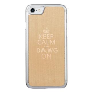 Behalten Sie Ruhe und Dawg auf iPhone 7/8 Fall Carved iPhone 8/7 Hülle
