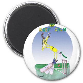 behalten Sie Ruhe und die geerdeten, tony Runder Magnet 5,1 Cm