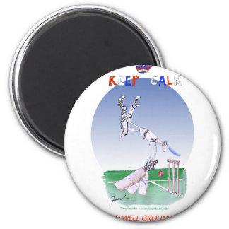 behalten Sie Ruhe und die wohlbegründeten, tony Runder Magnet 5,1 Cm