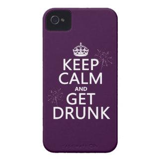 Behalten Sie Ruhe und erhalten Sie betrunken iPhone 4 Hüllen
