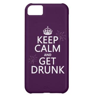 Behalten Sie Ruhe und erhalten Sie betrunken iPhone 5C Hülle
