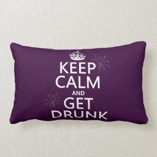 Behalten Sie Ruhe und erhalten Sie betrunken Lendenkissen