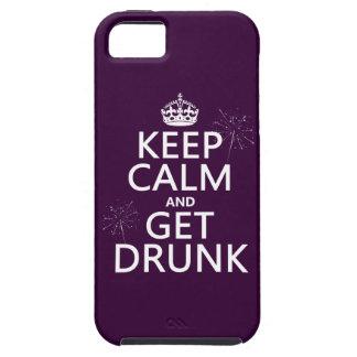 Behalten Sie Ruhe und erhalten Sie betrunken Tough iPhone 5 Hülle