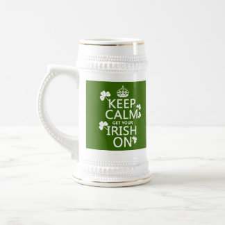 Behalten Sie Ruhe und erhalten Sie Ihre Iren auf Bierglas