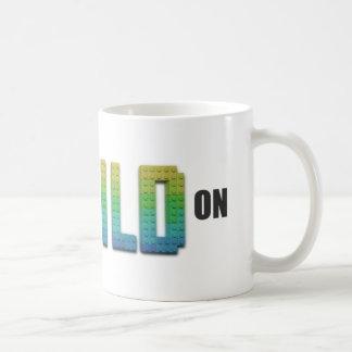 Behalten Sie Ruhe und errichten Sie auf Kaffeetasse