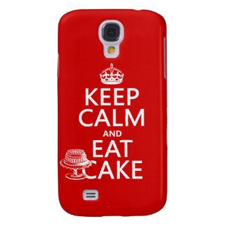 Behalten Sie Ruhe und essen Sie Kuchen Galaxy S4 Hülle