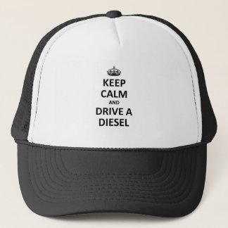 Behalten Sie Ruhe und fahren Sie einen Diesel Truckerkappe