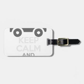 Behalten Sie Ruhe und fahren Sie SIE - Kabeljau: Kofferanhänger