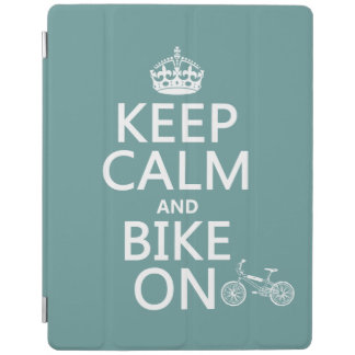Behalten Sie Ruhe und Fahrrad auf (irgendeine iPad Smart Cover