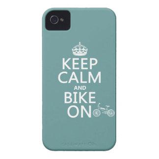 Behalten Sie Ruhe und Fahrrad auf (irgendeine iPhone 4 Case-Mate Hülle