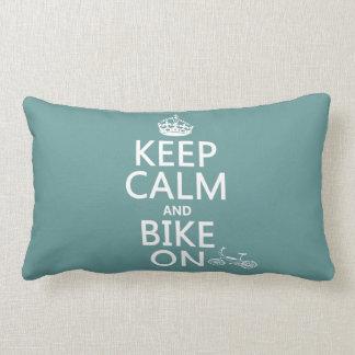 Behalten Sie Ruhe und Fahrrad auf (irgendeine Lendenkissen