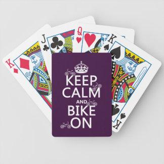 Behalten Sie Ruhe und Fahrrad auf (kundengerechte Bicycle Spielkarten