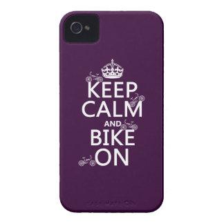 Behalten Sie Ruhe und Fahrrad auf (kundengerechte iPhone 4 Cover