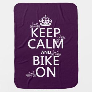 Behalten Sie Ruhe und Fahrrad auf (kundengerechte Kinderwagendecke