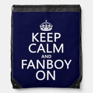 Behalten Sie Ruhe und Fanboy auf (in irgendeiner Turnbeutel