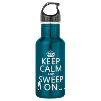 Behalten Sie Ruhe und fegen Sie auf (kräuselnd) Edelstahlflasche