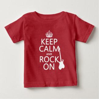 Behalten Sie Ruhe und Felsen auf (Gitarre) Baby T-shirt
