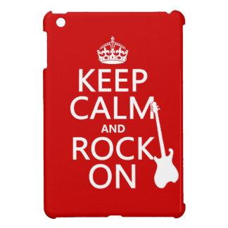 Behalten Sie Ruhe und Felsen auf (Gitarre) iPad Mini Hülle