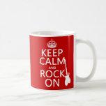 Behalten Sie Ruhe und Felsen auf (Gitarre) (irgend Teetasse