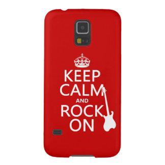 Behalten Sie Ruhe und Felsen auf (Gitarre) Samsung S5 Cover