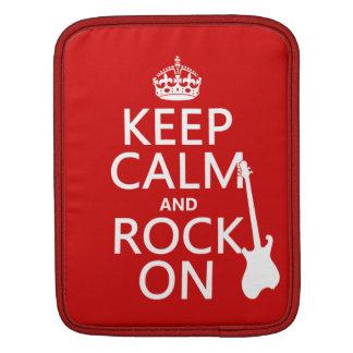 Behalten Sie Ruhe und Felsen auf (Gitarre) Sleeve Für iPads