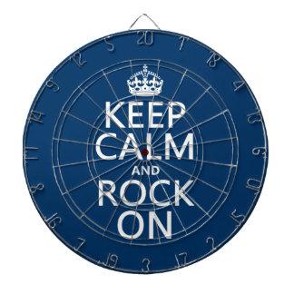 Behalten Sie Ruhe und Felsen auf (irgendeine Dartscheibe