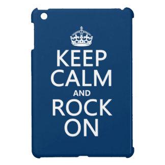 Behalten Sie Ruhe und Felsen auf (irgendeine iPad Mini Hülle