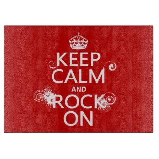 Behalten Sie Ruhe und Felsen auf (irgendeine Schneidebrett