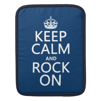 Behalten Sie Ruhe und Felsen auf (irgendeine Sleeve Für iPads
