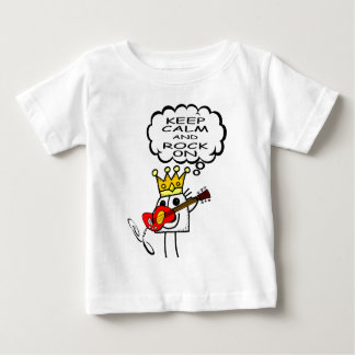 Behalten Sie Ruhe und Felsen Baby T-shirt