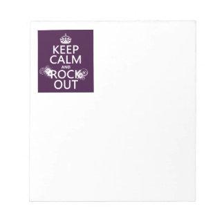 Behalten Sie Ruhe und Felsen heraus (irgendeine Notizblock