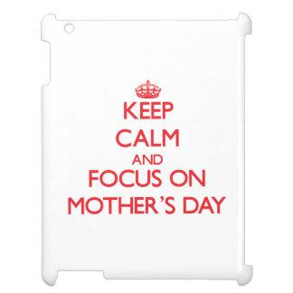Behalten Sie Ruhe und Fokus am Tag der Mütter Hülle Für iPad